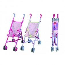 Детская Игровая Кукольная Прогулочная Коляска Трость с ремнями безопасности, складная, розовая Smoby Смоби