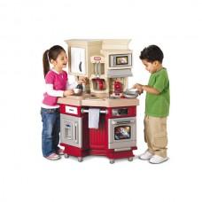 Детский Большой Игровой Набор Кухня Шефа с посудой, микроволновкой, красная - Master Chef Exclusive Little Tikes