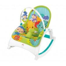 Детское Портативное Кресло-Шезлонг 3в1 Тропический лес с легкой вибрацией, съемной дугой Fisher Price 58471-14 tst-320015414