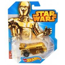 Игрушка Детская Для Мальчиков Машинка Звездные войны Тускенский рейдер желтая 1к64 Хот Вилс Hot Wheels Mattel