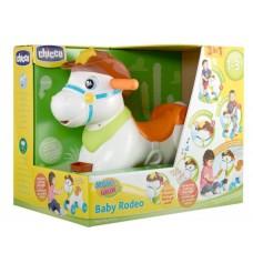 Детская Игровая Интерактивная Лошадка Качалка со световыми и звуковыми эффектами, 3 режима Baby Rodeo Chicco