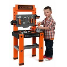 Детская Игрушечная Большая Мастерская Набор инструментов 79 предметов оранжевый Black and Decker Smoby Смоби
