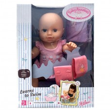 Детская Игровая Подвижная Интерактивная Кукла Бэби Аннабель учится плавать 46 см Baby Annabell Zapf Creation