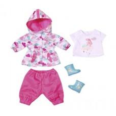 Детская Игровая Одежда для куклы Бэби Борн Комплект для дождя 4 предмета розовая Baby born Zapf Creation