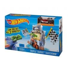 Детский Игровой Набор Хот Вилс Гоночная Трасса Трек Тройная мишень Triple Target Takedown Hot Wheels Mattel 59121-14 tst-614750750