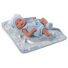 Детская Игровая Испанская Подвижная Кукла для девочек Nico мальчик с соской и одеялом 38 см Llorens из винила