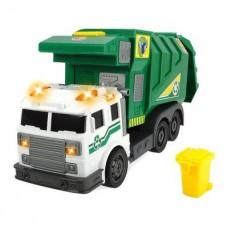Детская Игрушка для мальчиков Мусоровоз с контейнером, свет и звук, подъемник для мусорного бака - Dickie Toys
