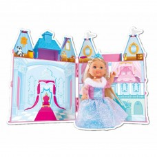 Игровой набор Замок Принцессы с куклой Еви раскладной, розовый с аксессуарами - Evi Love Princess Castle Simba