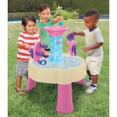 Детская Многоуровневая Конструкция Водный Столик Фонтан Спираль розовый с аксессуарами и 5 мячами Little Tikes