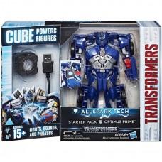 Игровой Робот-Трансформер для мальчиков Трансформер Оптимус Прайм свет, звук - Allspark Tech Starter Pack Hasbro