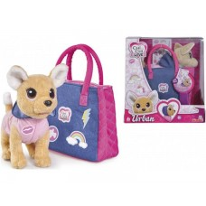 Игрушечная собачка в сумочке для девочек Чи Чи Лав Городская мода со стикерами, 20 см - Chi Chi Love Simba