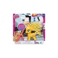 Детский Игровой Набор Для Девочек Пони Эплджек с разными причёсками и плойкой - My Little Pony Hasbro Хасбро