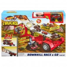Детский Игровой Набор для мальчика Передвижной трамплин с машинкой и монстр-траком Hot Wheels Хот Вилс