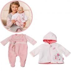 Детский Костюм Младенца для игровой куклы Бэби Аннабель розовый с белым 46 см Baby Annabell Zapf Creation
