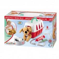 Детский Развивающий Игровой Набор Ветеринарная клиника с переноской для щенка 8 предметов Simba Симба