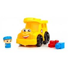Игровой Детский Развивающий Конструктор для детей Школьный автобус из 9 деталей Mega Bloks First Builders