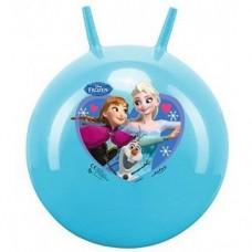 Мяч Попрыгун для детей надувной, с двумя ручками D=45-50см Холодное сердце, Джон, цвет: голубой - Frozen, John