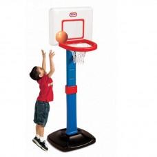Детский Игровой Спортивный Набор Раздвижной Баскетбольный Щит 60-120см из пластика с легким мячом Little Tikes 59432-14 tst-292119156