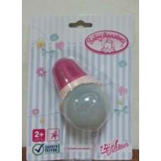 Бутылочка для кормления с крышкой розовая для детской игровой куклы Бэби Аннабель Baby Annabell Zapf Creation