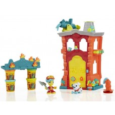 Детский Игровой Набор Для Мальчиков Пожарная Станция 4 разных пластилина с аксессуарами Плей До Play Doh Hasbro 58652-14 tst-393012986