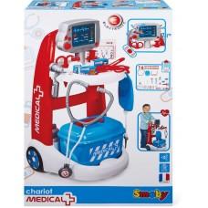 Детский Развивающий Игровой Набор Медицинская тележка доктора 16 предметов со звуковым эффектом Smoby Смоби