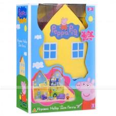 Детский Компактный Игровой набор складной Загородный домик Пеппы с фигурками и мебелью Peppa Pig 20x14,5x32 см