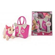 Игрушечная собачка для девочек Чи Чи Лав Щенок в розовом платье в сумочке с мордочкой - Chi Chi Love Puppy Simba