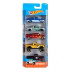 Игрушка Детская Для Мальчиков Подарочный Набор Машинок гоночные 5 штук Хот Вилс Hot Trucks  Hot Wheels Mattel