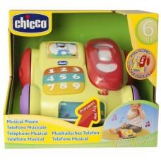 Детская Развивающая Музыкальная Игрушка-Каталка Телефон Динь-Динь с двумя режимами Chicco Чикко 22х19х20 см