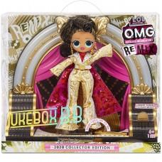 Коллекционная кукла ЛОЛ Ремикс Jukebox B.B. в золотом наряде с музыкальным автоматом - LOL Surprise! OMG. Remix