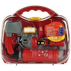 Игровой набор для мальчиков Пожарный из 6 элементов в чемодане: ручной огнетушитель, фонарик, топорик, Klein