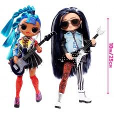 Набор из 2 кукол ЛОЛ Рокер Бой и Панк Грррл с аксессуарами, пластинкой - LOL OMG Remix Rocker Boi and Punk Grrrl