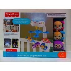 Детская Развивающая Музыкальная Игрушка Подвеска-Мобиль Подвижная на кроватку с проектором Fisher Price