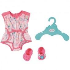 Детский Игровой Набор для Куклы Бэби Борн Пижама с рисунками и обувью розовая 43 см Baby Born Zapf Creation