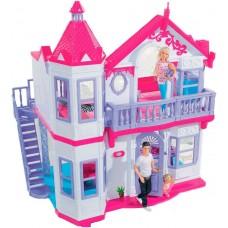 Игровой двухэтажный Дом с балконом, лестницей, аксессуарами для кукол 29см - Steffi и Evi Love Simba 79х70х22см