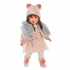 Детская Игровая Испанская Подвижная Кукла для девочек Лети брюнетка с накидкой 40 см Llorens из винила