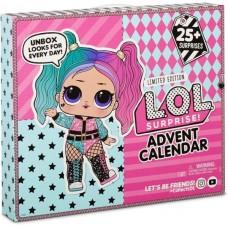 Игровой набор ЛОЛ Адвент календарь 2020 с куколкой и 25 сюрпризными аксессуарами –  LOL Surprise 2020, 36х30х6см