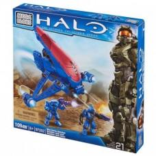Детский Игровой Конструктор для мальчиков Привидения в голубом Ковенант 2 фигурки, 109 деталей Mega Bloks Halo