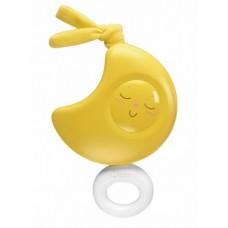 Детская Музыкальная Подвесная Игрушка с закругленными формами на коляску и автолюльку Луна желтая Chicco