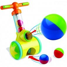 Детская Игрушка Аэродинамическая Труба-Каталка с шариками 5 штук механическая для дома и улицы Pic'n'Pop Тomy