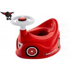 Детский универсальный Горшок для мальчиков со спинкой, игровые элементы: сигнал, руль, Big Baby Potty красный