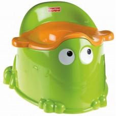 Детский Горшок для малышей Жабка, эргономичная форма, 35.5x32x24.5 см, съемный литой контейнер - Fisher Price