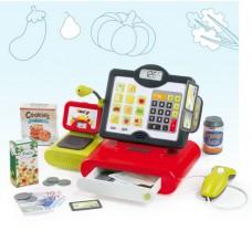 Детская Игрушечная Функциональная Касса Для Магазина с сенсорным экраном, микрофоном и сканером Smoby Смоби