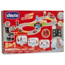 Детский Игровой Набор Интерактивный Гоночный Мототрек с Разными Вариантами Трассы с Пультом Ducati Chicco Чико