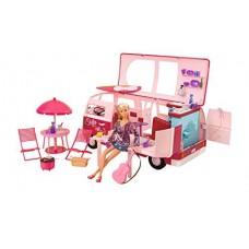 Игровой Набор Кемпинг с Куклой Штеффи в розовом фургоне с 50 аксессуарами - Steffi Love Hawaii Camper Simba