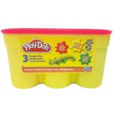 Детский Игровой Набор Мягкого Развивающего Пластилина 1,36 кг Плей До Play Doh Hasbro (красный,желтый,зеленый) 59063-14 tst-603527182