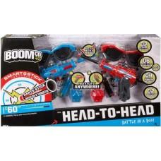 Детский Игровой Набор с 2 Бластерами 2 Очками 2 гранатами-липучками и шестью стрелами-липучек Поединок BOOMco
