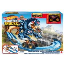 Игровой набор Жало Скорпиона Хот Вилс Монстр Трак с машинкой и внедорожником - Hot Wheels Scorpion Sting Raceway