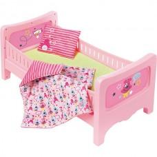 Детская Игровая Кроватка для куклы с подушкой, матрасом и одеялом розовая Беби Бон Baby Born Zapf Creation