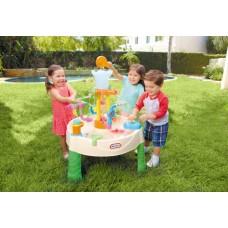 Детская Многоуровневая Конструкция Водный стол Детская песочница зеленая с кранами и аксессуарами Little Tikes